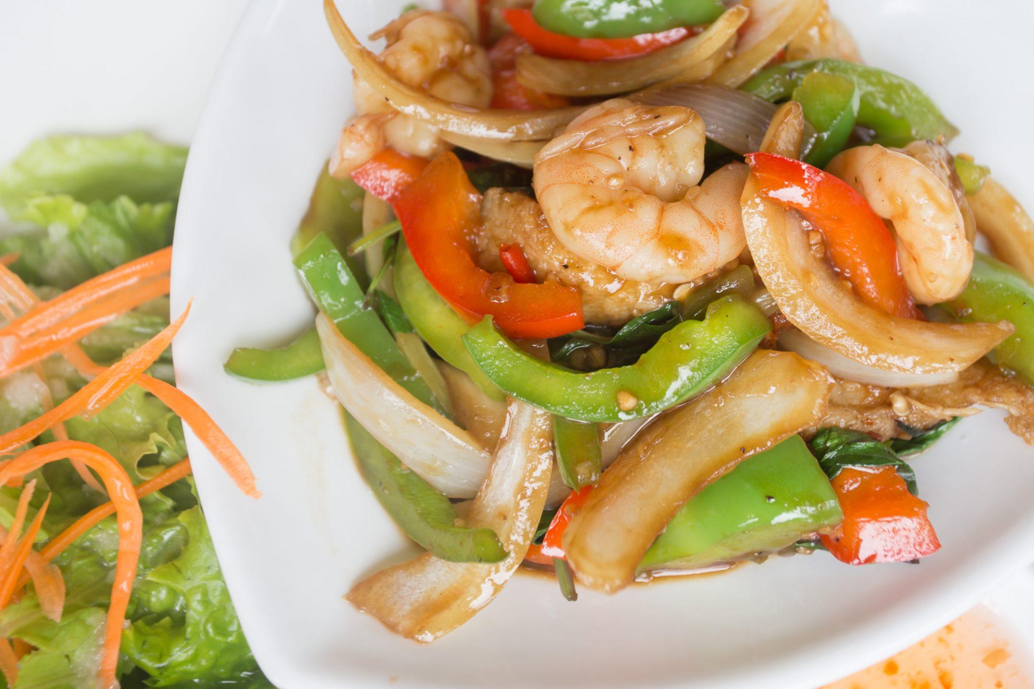 Thai food plate